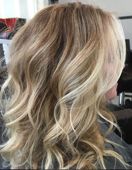 buttery blonde highlights