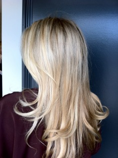 golden blonde highlights