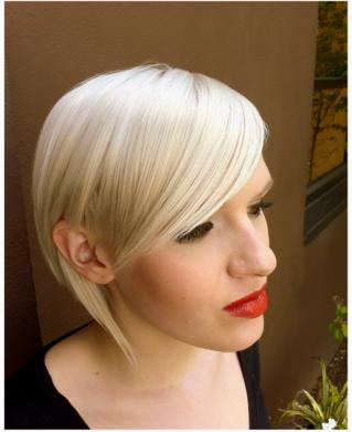 long blonde pixie haircut idea