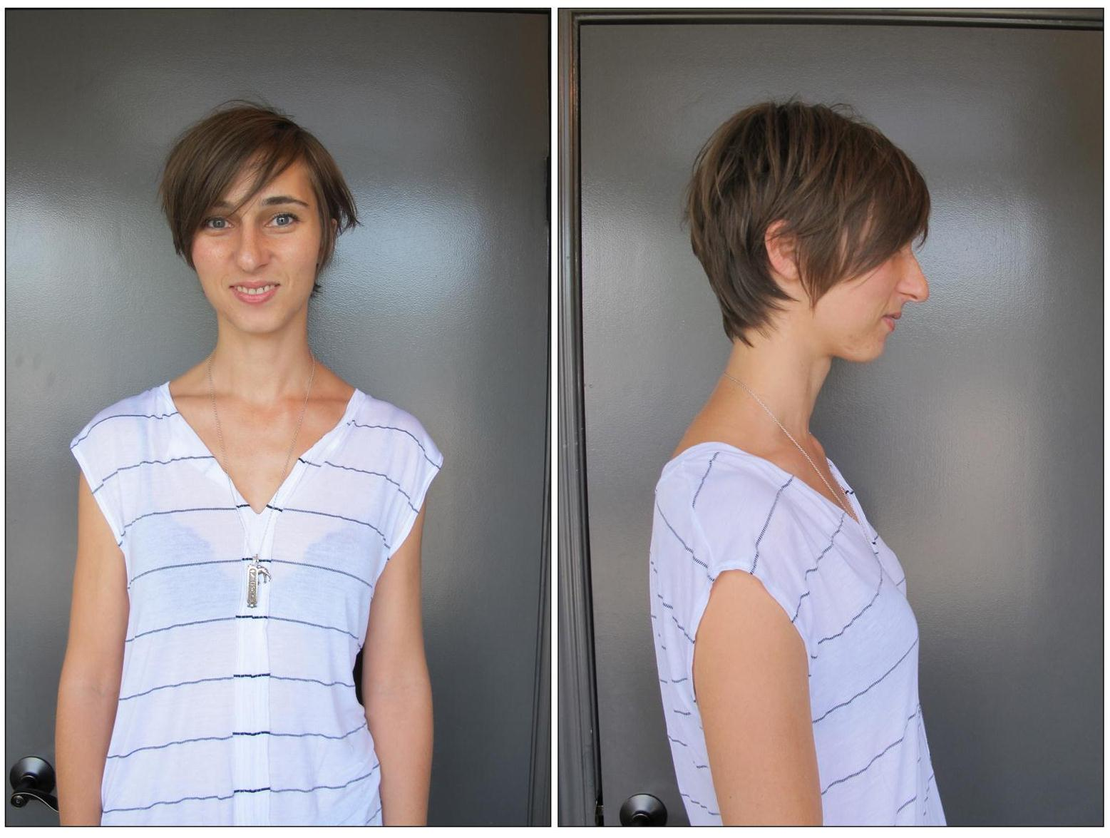 Pixie Haircut Before and After