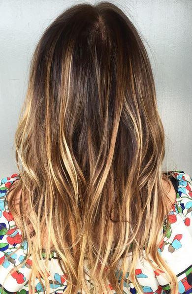 beachy brunette balayage