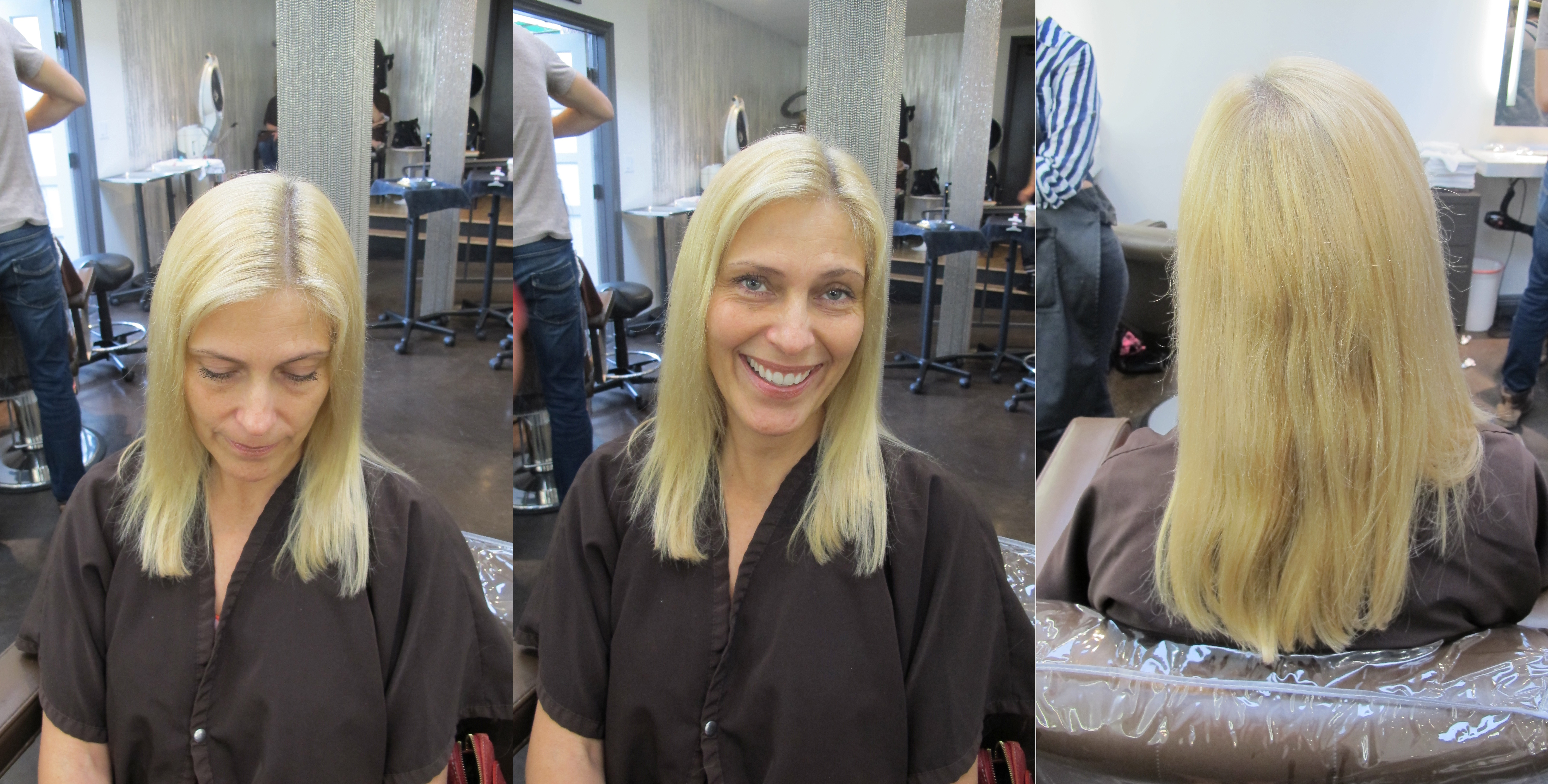 natural blonde highlights a before and after shared by