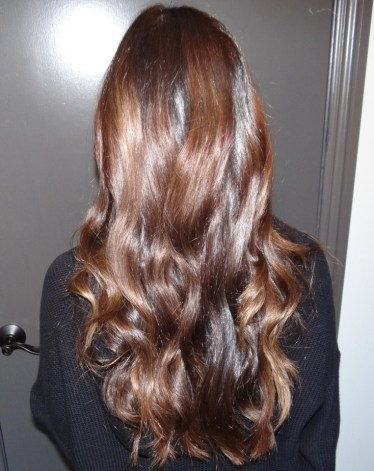 rich and warm brunette hair color