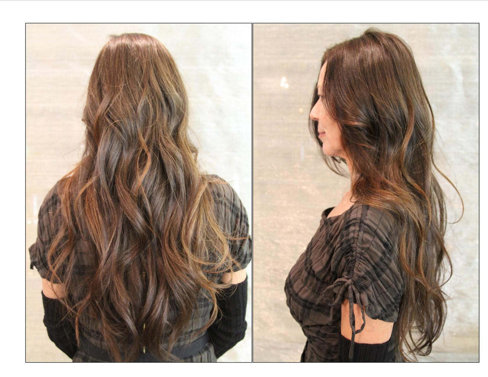 Brazilian Blowout Before and After Curly Hair