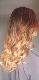 natural warm brunette ombre