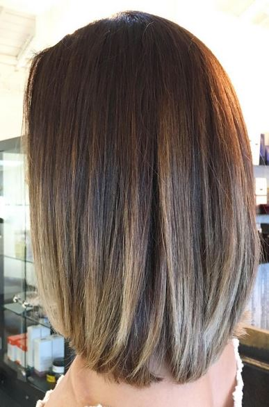 Ombre Hair Brown To Caramel To Blonde Medium Length Brunette Highlights an...