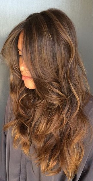 caramel-brunette-highlights