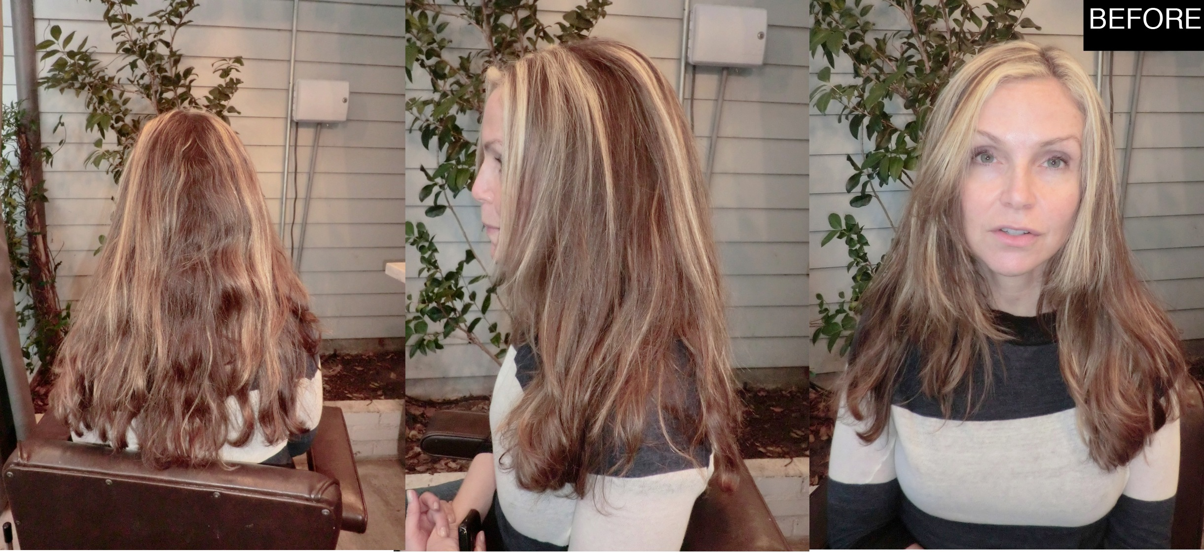 Before And After Striped To Natural Looking Highlights