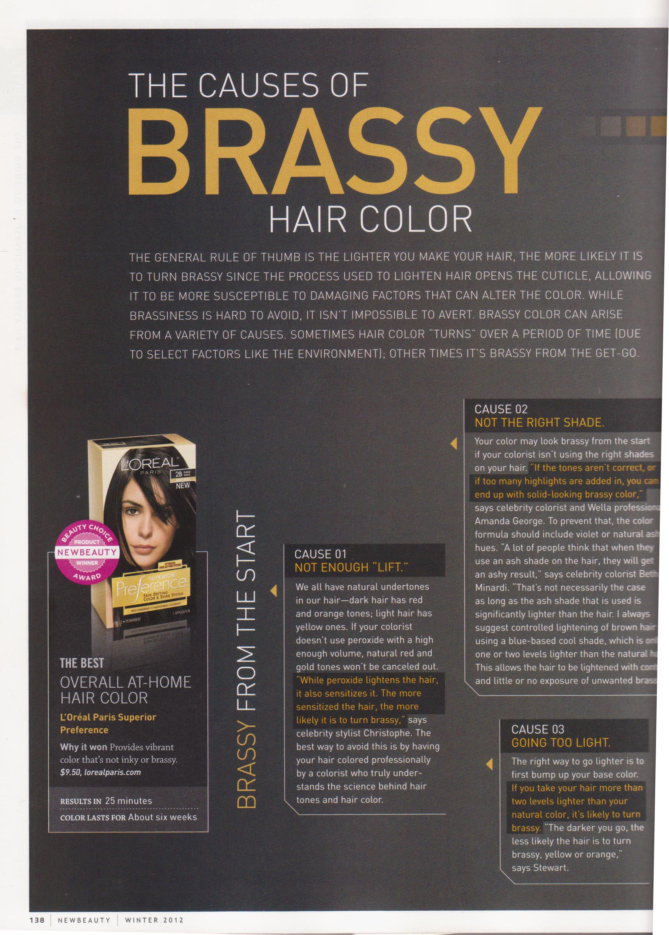 Causes of Brassy Hair Color | Neil George
