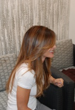 brunette with highlights