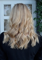 fine blonde highlights