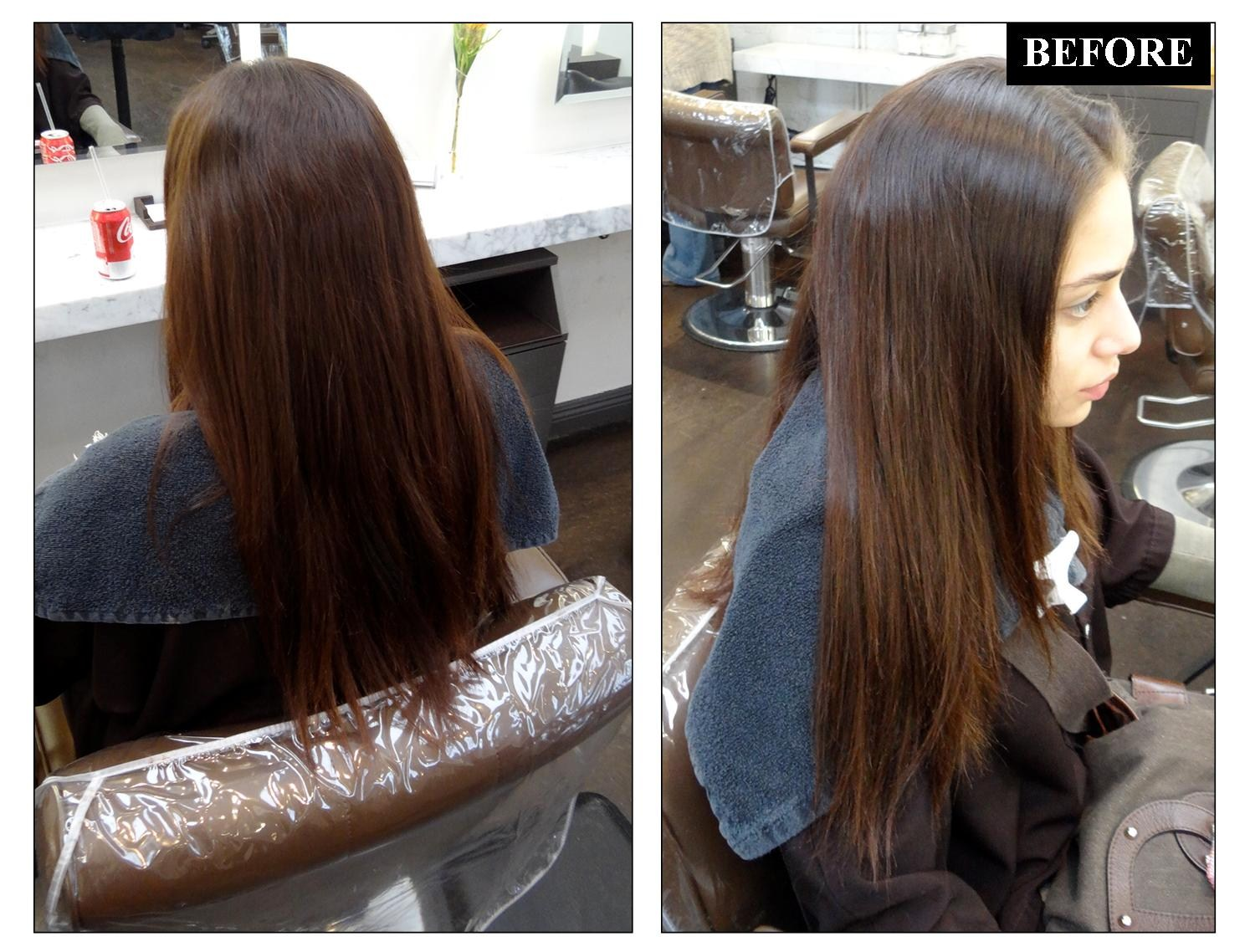 Hair Color Before and After