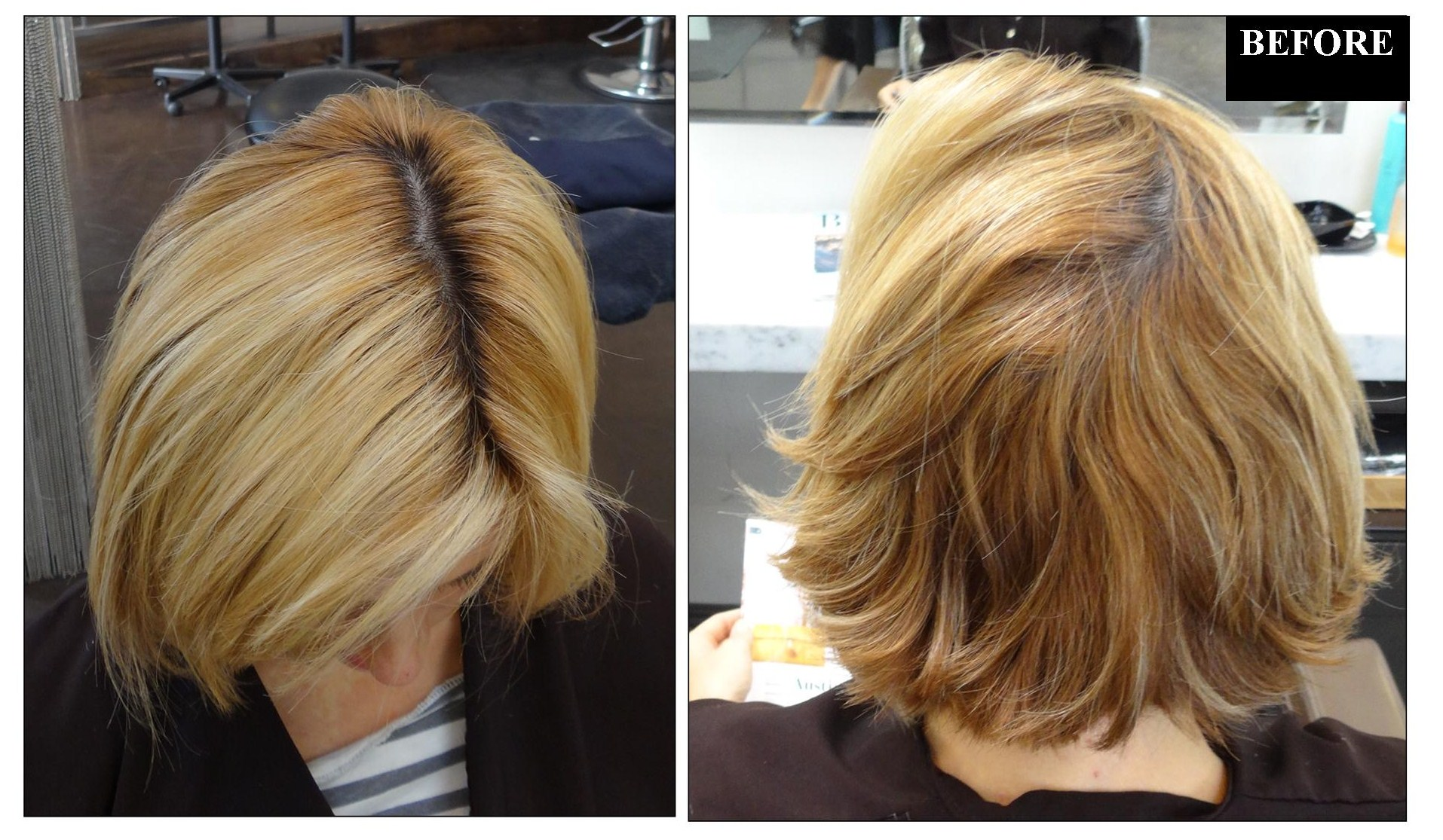 See more of Sarah   s hair color work on her blog On Colour Ground Brassy Brown Hair Fix