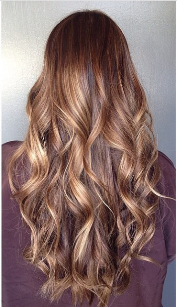 chocolate brunette with highlights