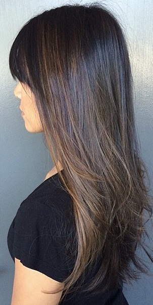 darker brunette hair