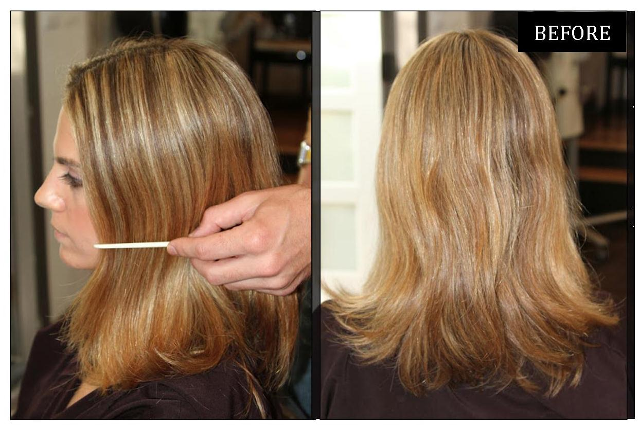 Natural blonde highlights: a before and after shared by Neil George ...