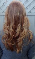 reddish blonde hair