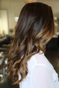 brunette balyage