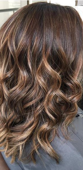 Rich Brunette And Caramel Highlights Neil George