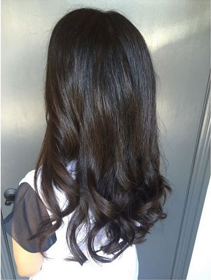 dark brunette highlights