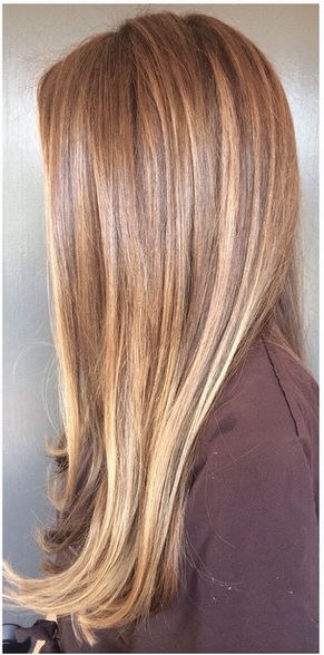natural looking brunette highlights