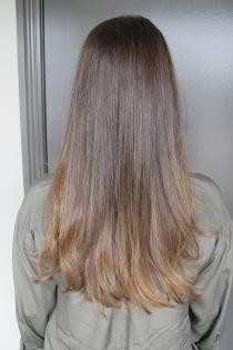 shiny brunette hair