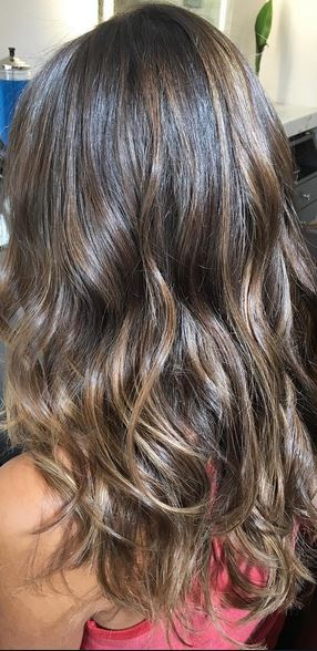 shiny-brunette-highlights