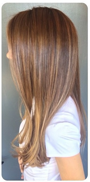 subtle brunette highlights (2)