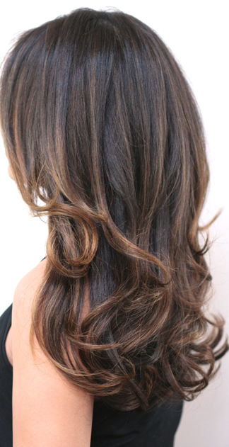 subtle brunette highlights neil george