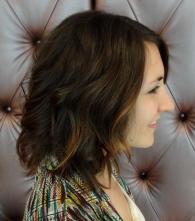 brunette highlight tips