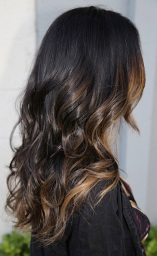 subtle brunette highlights