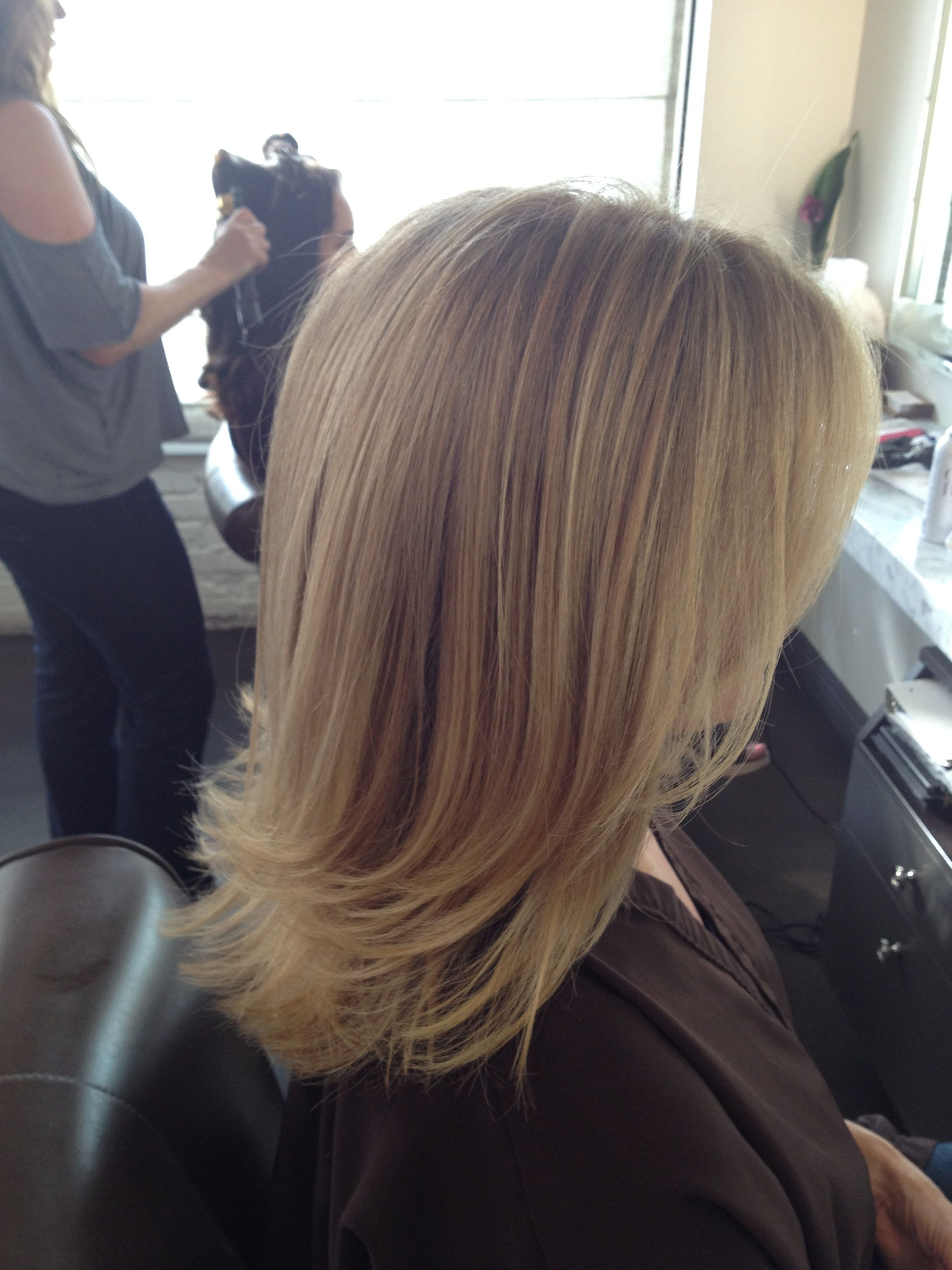 Before and after cool blonde chic cut neil george for Cut and color ideas
