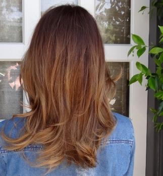 warm brunette ombre