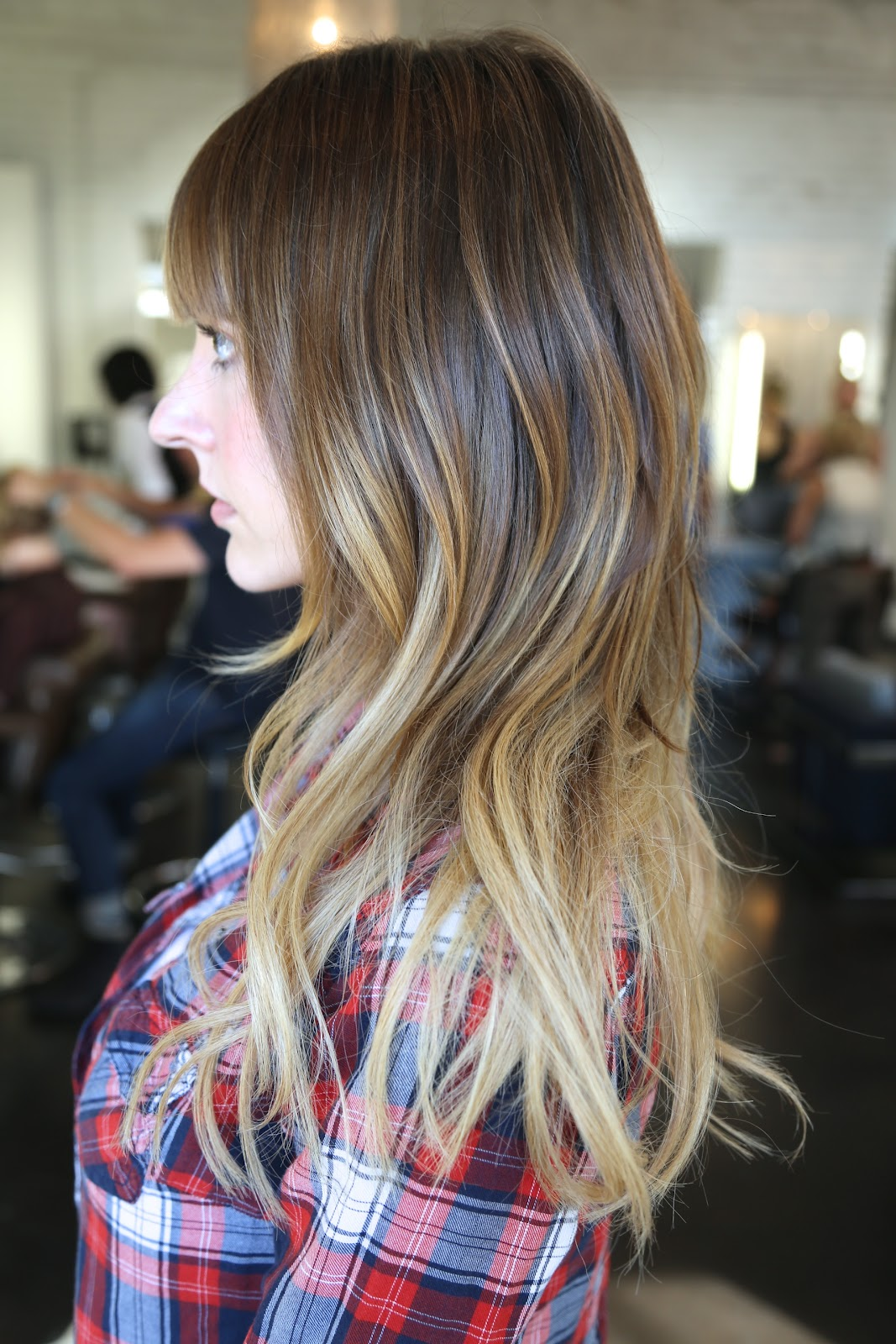 Before and after added length and ombre neil george - Ombre hair carre ...