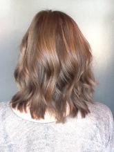 beachy brunette hair
