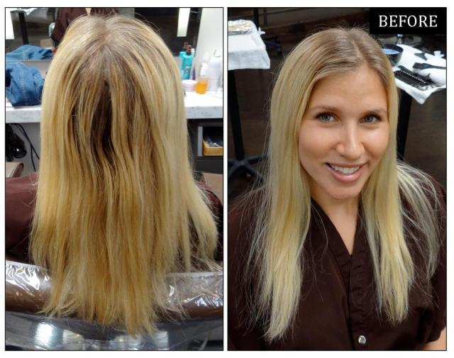 To bright baby blonde colorist sarah conner gives her client all over