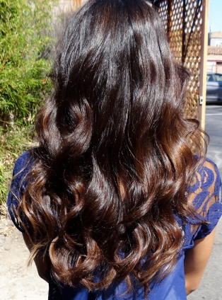 warm brunette hair color