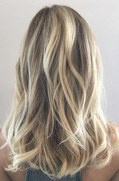 Dark brown hair with ombre tips