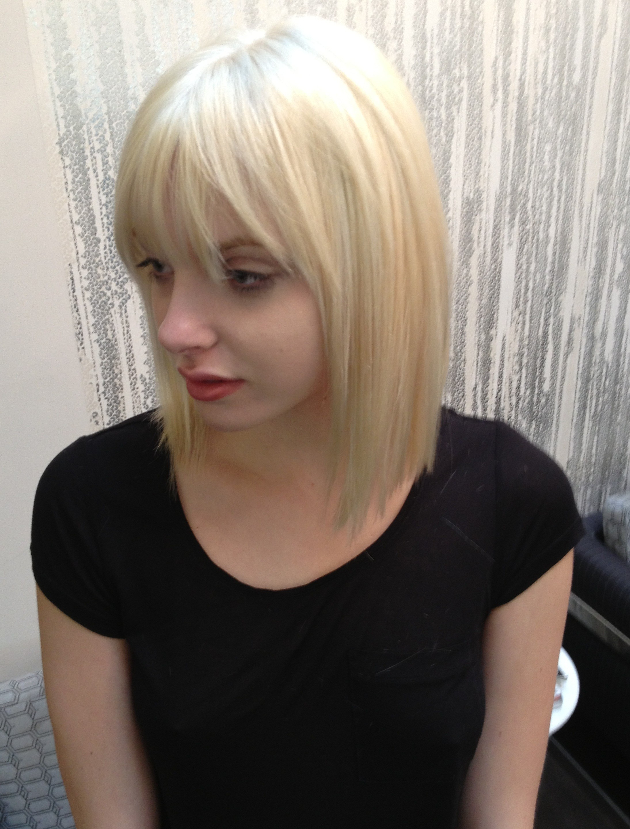 Long Bob With Bangs Neil George