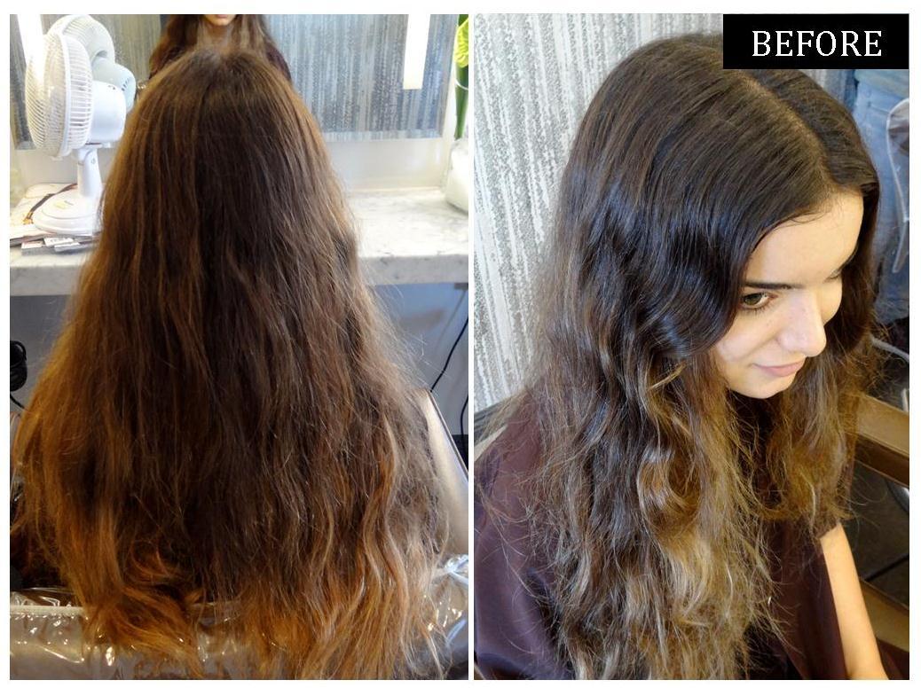 Highlight Styles For Long Hair: Medium Brunette With Golden Highlights